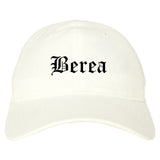 Berea Ohio OH Old English Mens Dad Hat Baseball Cap White