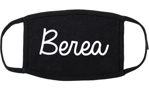Berea Ohio OH Script Cotton Face Mask Black