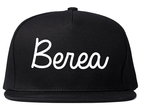 Berea Ohio OH Script Mens Snapback Hat Black