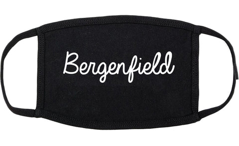 Bergenfield New Jersey NJ Script Cotton Face Mask Black