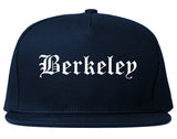 Berkeley Illinois IL Old English Mens Snapback Hat Navy Blue