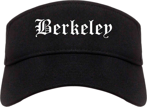 Berkeley Illinois IL Old English Mens Visor Cap Hat Black