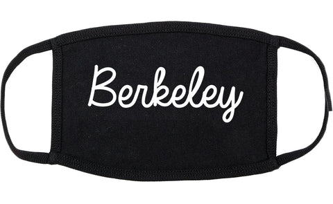 Berkeley Missouri MO Script Cotton Face Mask Black