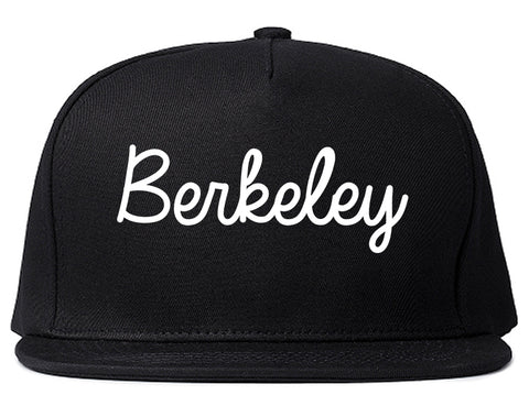 Berkeley Missouri MO Script Mens Snapback Hat Black