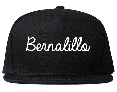 Bernalillo New Mexico NM Script Mens Snapback Hat Black