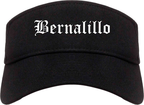 Bernalillo New Mexico NM Old English Mens Visor Cap Hat Black