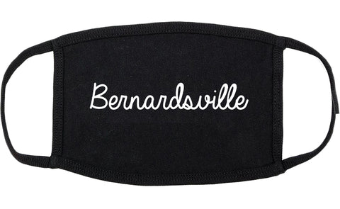 Bernardsville New Jersey NJ Script Cotton Face Mask Black