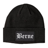 Berne Indiana IN Old English Mens Knit Beanie Hat Cap Black