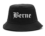 Berne Indiana IN Old English Mens Bucket Hat Black