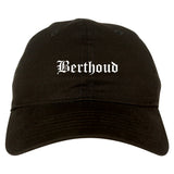 Berthoud Colorado CO Old English Mens Dad Hat Baseball Cap Black