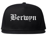 Berwyn Illinois IL Old English Mens Snapback Hat Black