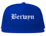 Berwyn Illinois IL Old English Mens Snapback Hat Royal Blue