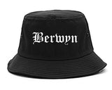 Berwyn Illinois IL Old English Mens Bucket Hat Black