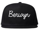 Berwyn Illinois IL Script Mens Snapback Hat Black