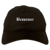 Bessemer Alabama AL Old English Mens Dad Hat Baseball Cap Black