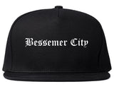 Bessemer City North Carolina NC Old English Mens Snapback Hat Black
