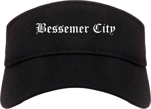 Bessemer City North Carolina NC Old English Mens Visor Cap Hat Black