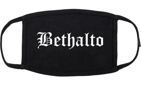 Bethalto Illinois IL Old English Cotton Face Mask Black