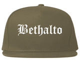 Bethalto Illinois IL Old English Mens Snapback Hat Grey