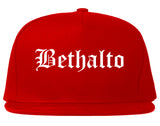 Bethalto Illinois IL Old English Mens Snapback Hat Red