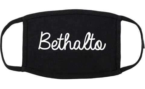 Bethalto Illinois IL Script Cotton Face Mask Black
