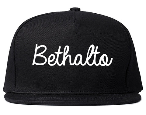 Bethalto Illinois IL Script Mens Snapback Hat Black