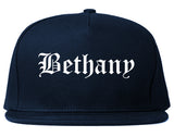 Bethany Oklahoma OK Old English Mens Snapback Hat Navy Blue