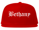 Bethany Oklahoma OK Old English Mens Snapback Hat Red