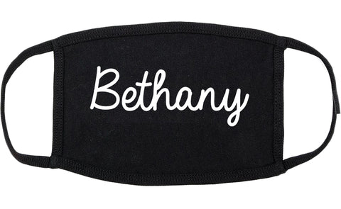 Bethany Oklahoma OK Script Cotton Face Mask Black