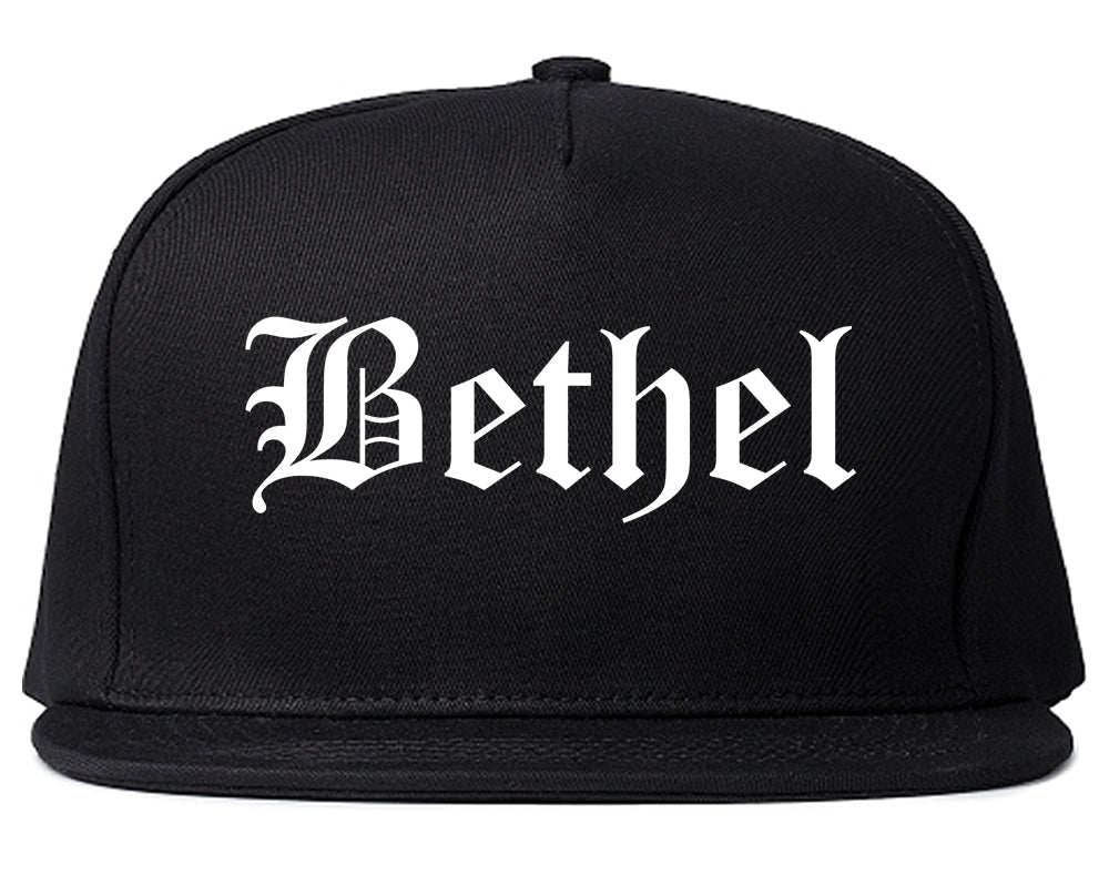 Bethel Alaska AK Old English Mens Snapback Hat Black
