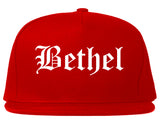 Bethel Alaska AK Old English Mens Snapback Hat Red