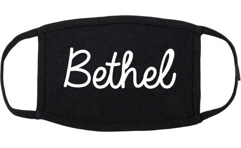 Bethel Alaska AK Script Cotton Face Mask Black
