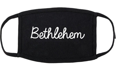 Bethlehem Pennsylvania PA Script Cotton Face Mask Black