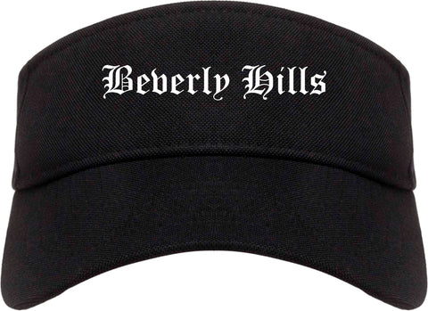Beverly Hills Michigan MI Old English Mens Visor Cap Hat Black