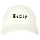 Bexley Ohio OH Old English Mens Dad Hat Baseball Cap White