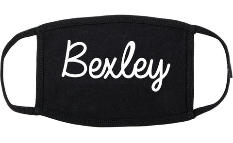 Bexley Ohio OH Script Cotton Face Mask Black
