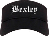 Bexley Ohio OH Old English Mens Visor Cap Hat Black