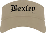 Bexley Ohio OH Old English Mens Visor Cap Hat Khaki