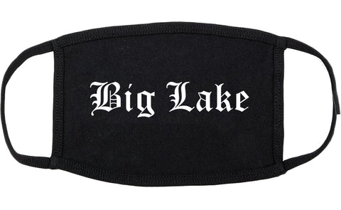 Big Lake Minnesota MN Old English Cotton Face Mask Black