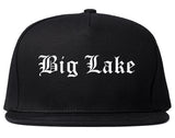 Big Lake Minnesota MN Old English Mens Snapback Hat Black