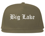 Big Lake Minnesota MN Old English Mens Snapback Hat Grey