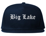 Big Lake Minnesota MN Old English Mens Snapback Hat Navy Blue