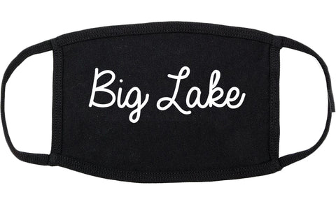 Big Lake Minnesota MN Script Cotton Face Mask Black