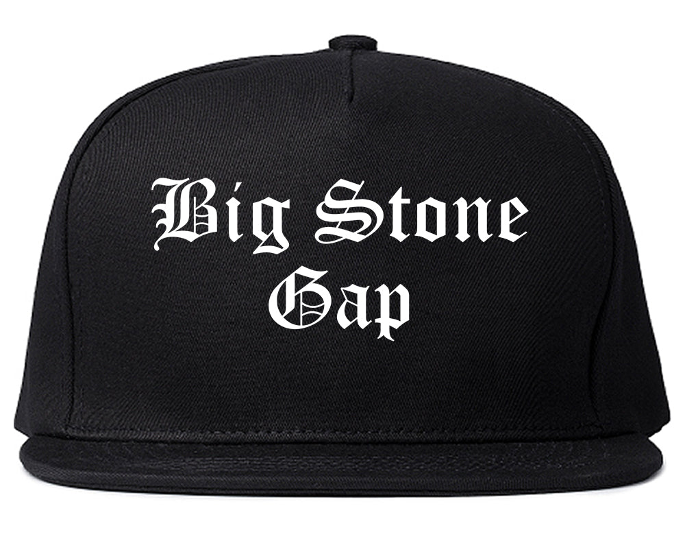 Big Stone Gap Virginia VA Old English Mens Snapback Hat Black