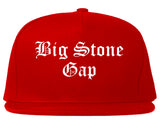 Big Stone Gap Virginia VA Old English Mens Snapback Hat Red