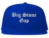 Big Stone Gap Virginia VA Old English Mens Snapback Hat Royal Blue