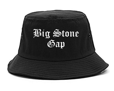 Big Stone Gap Virginia VA Old English Mens Bucket Hat Black