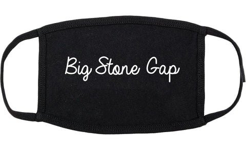 Big Stone Gap Virginia VA Script Cotton Face Mask Black