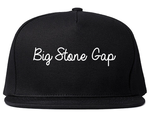 Big Stone Gap Virginia VA Script Mens Snapback Hat Black