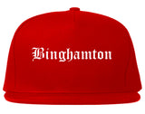 Binghamton New York NY Old English Mens Snapback Hat Red